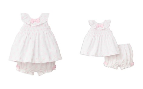 Little Me Girls' Textured Dot 2-Piece Sunsuit - Baby - Bloomingdale's_2