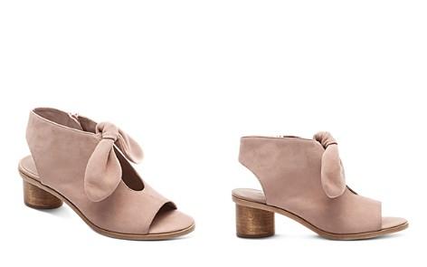 Bernardo Women's Knotted Suede Peep Toe Sandals - Bloomingdale's_2