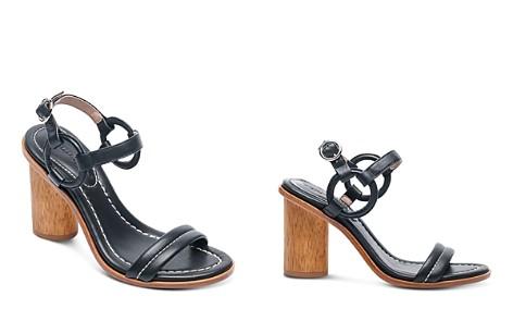 Bernardo Women's Leather Circle Strap Block Heel Sandals - Bloomingdale's_2