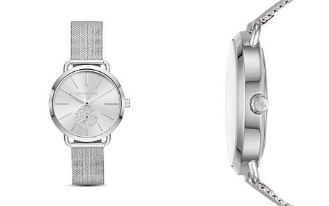 Michael Kors Silver-Tone Portia Mesh Bracelet Watch, 37mm - Bloomingdale's_2