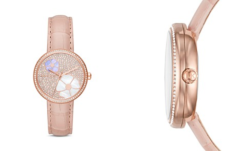 Michael Kors Rose Gold-Tone Courtney Floral Pavé Watch, 36mm - Bloomingdale's_2
