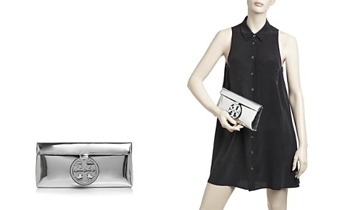 Tory Burch Miller Mirror Metal Patent Leather Clutch - Bloomingdale's_2
