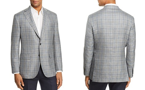 Jack Victor Mélange Plaid Regular Fit Sport Coat - Bloomingdale's_2