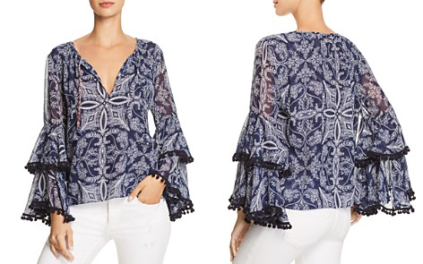 MISA Los Angeles Maya Bell-Sleeve Top - Bloomingdale's_2