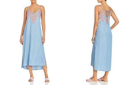 Billy T Floral Embroidered Chambray Midi Slip Dress - Bloomingdale's_2