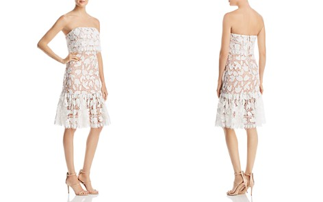 Jarlo Annora Strapless Lace Dress - Bloomingdale's_2