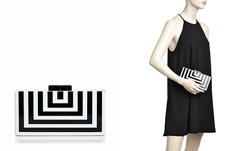 AQUA Stripe Geometric Clutch - 100% Exclusive - Bloomingdale's_2