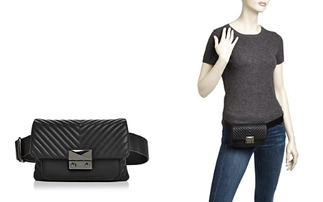 AQUA Skinny V Quilt Belt Bag - 100% Exclusive - Bloomingdale's_2