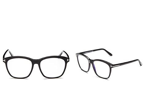 Tom Ford Square Blue Blocker Glasses, 54mm - Bloomingdale's_2