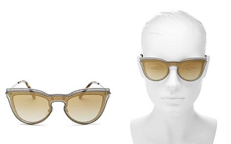 Valentino Women's Mirrored Cat Eye Shield Sunglasses, 135mm - Bloomingdale's_2