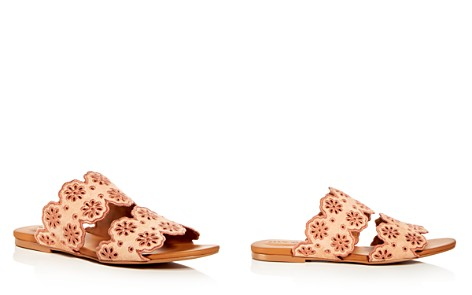 See by Chloé Women's Floral Eyelet Suede Slide Sandals - Bloomingdale's_2