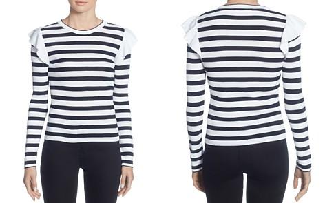 CATHERINE Catherine Malandrino Karina Ruffle Shoulder Stripe Sweater - Bloomingdale's_2