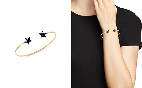 SheBee 14K Yellow Gold Blue Sapphire Open Star Cuff Bracelet - Bloomingdale's_2