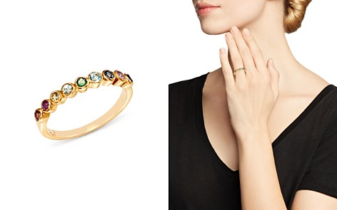 SheBee 14K Yellow Gold Multicolor Sapphire Band - Bloomingdale's_2