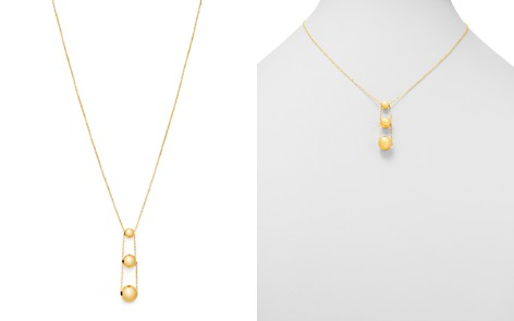 """Bloomingdale's 14K Yellow Gold Graduated Bead Drop Necklace, 16"""" - 100% Exclusive _2"""