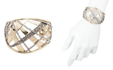 Alexis Bittar Crystal Crosshatch Cuff Bracelet - Bloomingdale's_2