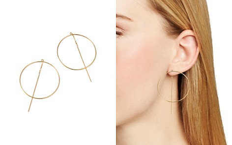 Moon & Meadow Circle Threader Earrings in 14K Yellow Gold - 100% Exclusive - Bloomingdale's_2