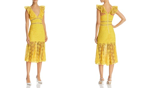 Saylor Illusion Lace Midi Dress - Bloomingdale's_2