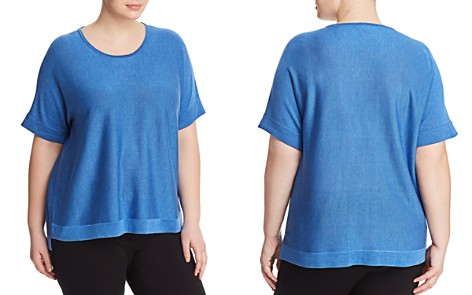 Eileen Fisher Plus Lightweight Short-Sleeve Sweater - Bloomingdale's_2
