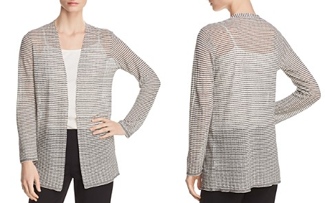 Eileen Fisher Lightweight Striped Cardigan - Bloomingdale's_2