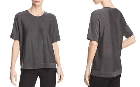 Eileen Fisher Lightweight Short-Sleeve Sweater - Bloomingdale's_2