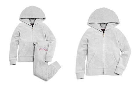 Juicy Couture Black Label Girls' Velour Scottie Robertson Glitter Jacket and Butterfly Logo Zuma Pants - Big Kid - Bloomingdale's_2