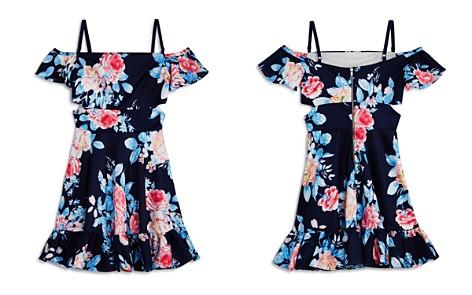 Miss Behave Girls' Elsa Cold-Shoulder Floral Dress - Big Kid - Bloomingdale's_2