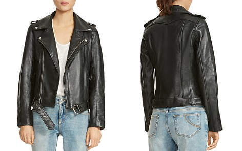 Maje Bocelix Belted Leather Motorcycle Jacket - Bloomingdale's_2