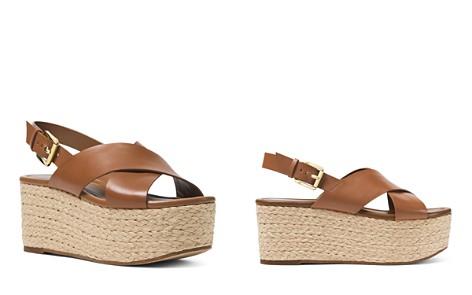 73826ba6f0eb MICHAEL Michael Kors Jodi Leather Platform Wedge Espadrille Sandals -  Bloomingdale s 2