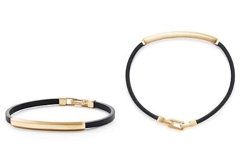 David Yurman Streamline Leather Bar ID Bracelet with 18K Gold - Bloomingdale's_2