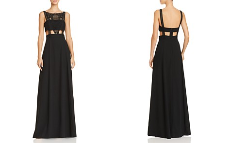 Aidan by Aidan Mattox Cutout Crepe Gown - 100% Exclusive - Bloomingdale's_2