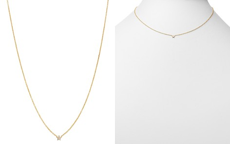 """Zoë Chicco 14K Yellow Gold Itty Bitty Diamond Star Pendant Necklace, 16"""" - Bloomingdale's_2"""