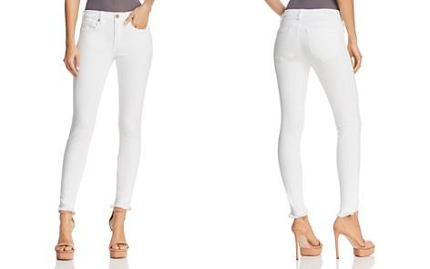 BLANKNYC Frayed Skinny Jeans in White - 100% Exclusive - Bloomingdale's_2