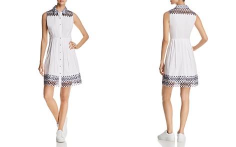 Elie Tahari Samiya Sleeveless Lace-Trim Shirt Dress - 100% Exclusive - Bloomingdale's_2