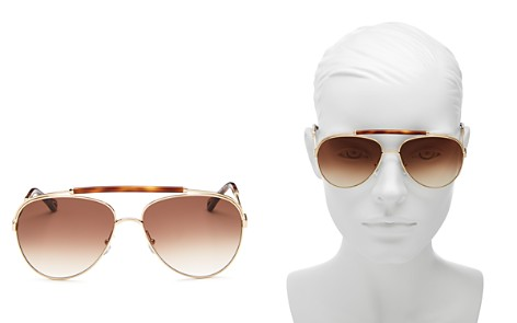 Chloé Women's Jackie Brow Bar Aviator Sunglasses, 60mm - Bloomingdale's_2