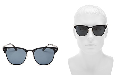 Ray-Ban Unisex Blaze Rimless Clubmaster Sunglasses, 51mm - 100% Exclusive - Bloomingdale's_2