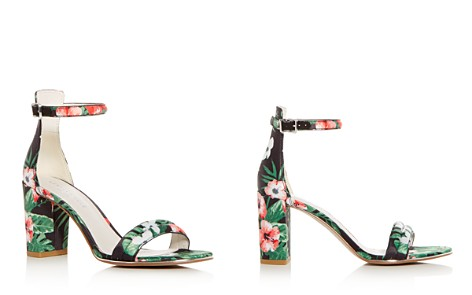 Kenneth Cole Women's Lex Floral Print Satin Block Heel Sandals - Bloomingdale's_2