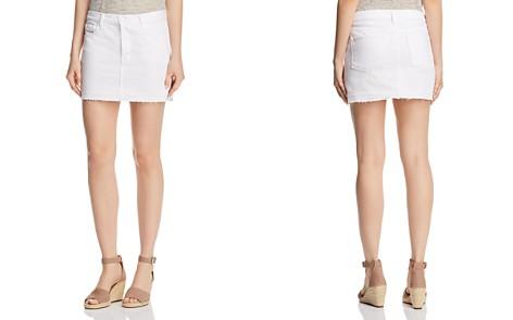 J Brand Bonny Mid Rise Denim Mini Skirt in White - Bloomingdale's_2