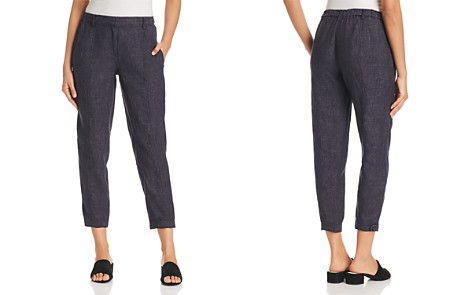 Eileen Fisher Petites Seamed Linen Ankle Pants - Bloomingdale's_2