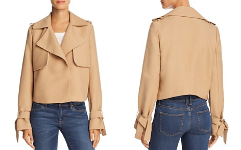 Avec Les Filles Cropped Trench Coat - 100% Exclusive - Bloomingdale's_2