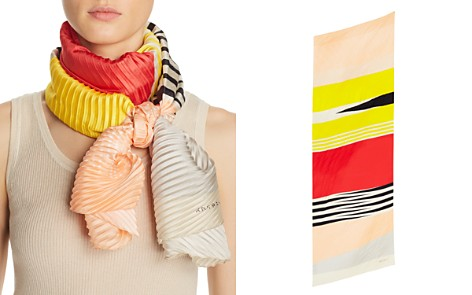 Abstract Plissé Multicolor Stripe Oblong Scarf - 100% Exclusive - Bloomingdale's_2