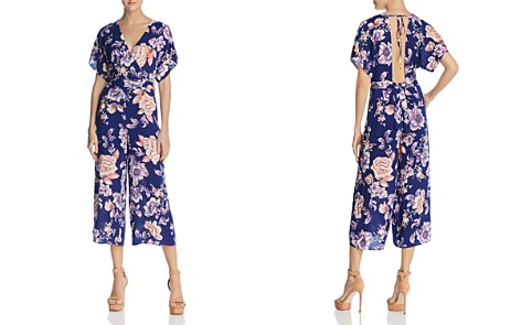 JOA Open-Back Floral Print Jumpsuit - Bloomingdale's_2