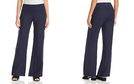 Three Dots Linen Wide-Leg Pull-On Pants - Bloomingdale's_2