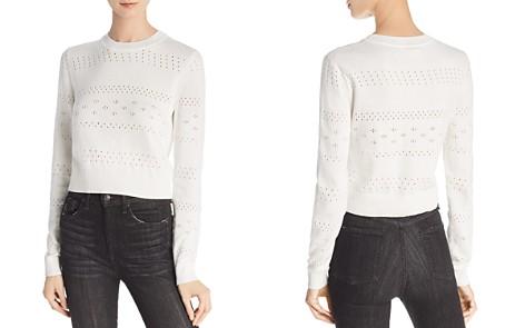 rag & bone/JEAN Perforated Crop Sweater - Bloomingdale's_2