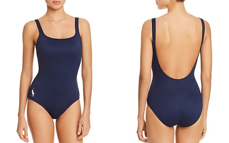 Polo Ralph Lauren Solid Martinique One Piece Swimsuit - Bloomingdale's_2