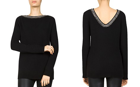 The Kooples Bead & Sequin-Trimmed Wool & Cashmere Sweater - Bloomingdale's_2