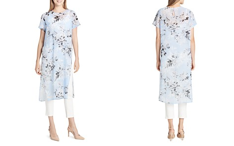Calvin Klein Long Floral-Print Tunic Top - Bloomingdale's_2