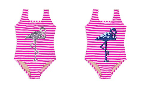 Shade Critters Girls' Striped Sequined-Flamingo Swimsuit - Little Kid - Bloomingdale's_2
