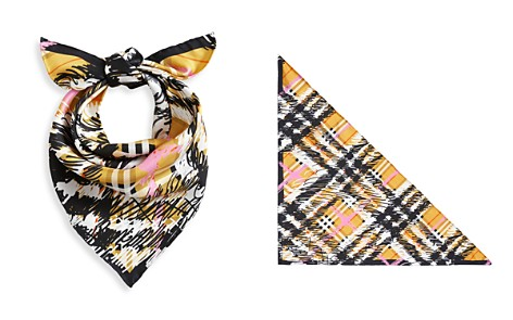 Burberry Scribble Check Silk Scarf - Bloomingdale's_2