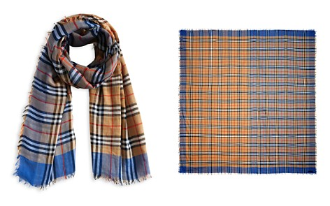 Burberry Two-tone Vintage Check Cotton Scarf - Bloomingdale's_2